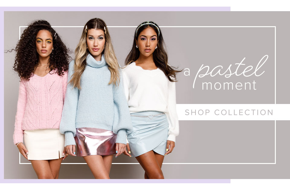 A Pastel Moment. Click Here To Shop The Collection.