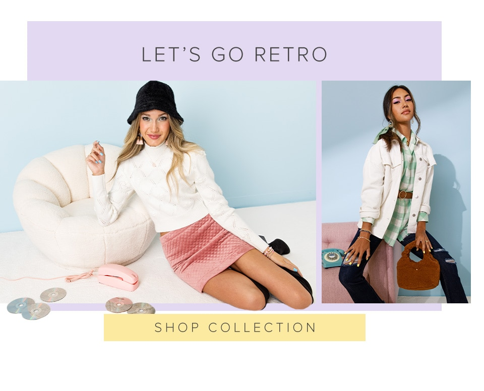 Let's Go Retro. Click Here To Shop The Collection.